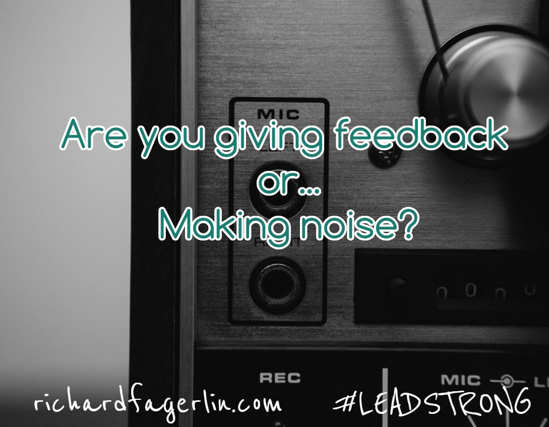 The Difference between Feedback and Noise