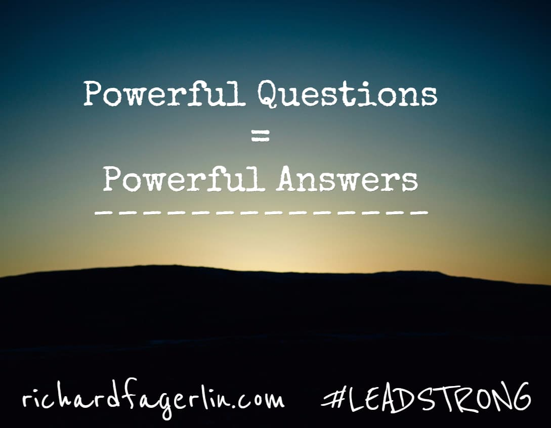 Powerful Questions lead to Powerful Answers – Stop, Start and Continue